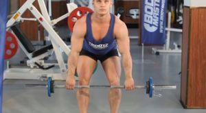 Тяга штанги в наклоне: работающие мышцы и техника выполнения