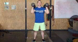 Взятие гантелей в стойку: работающие мышцы и техника выполнения