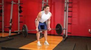 Тяга штанги в наклоне обратным хватом: работающие мышцы и техника выполнения