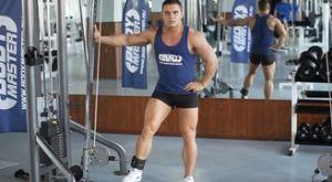 Приведения ноги на нижнем блоке: работающие мышцы и техника выполнения