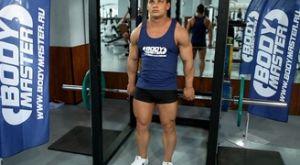 Шраги со штангой из-за спины: работающие мышцы и техника выполнения