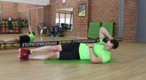 Упражнение «складной нож» лёжа на боку: работающие мышцы и техника выполнения