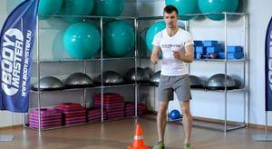 Перепрыгивание конуса боком с последующим ускорением: работающие мышцы и техника выполнения