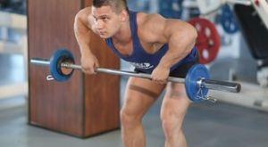 Тяга штанги к груди в наклоне: работающие мышцы и техника выполнения
