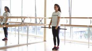 Шаг + приседание с подъемом бодибара: работающие мышцы и техника выполнения