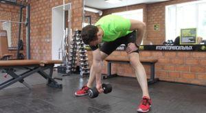 Концентрированные сгибания руки с гантелью стоя в наклоне: работающие мышцы и техника выполнения