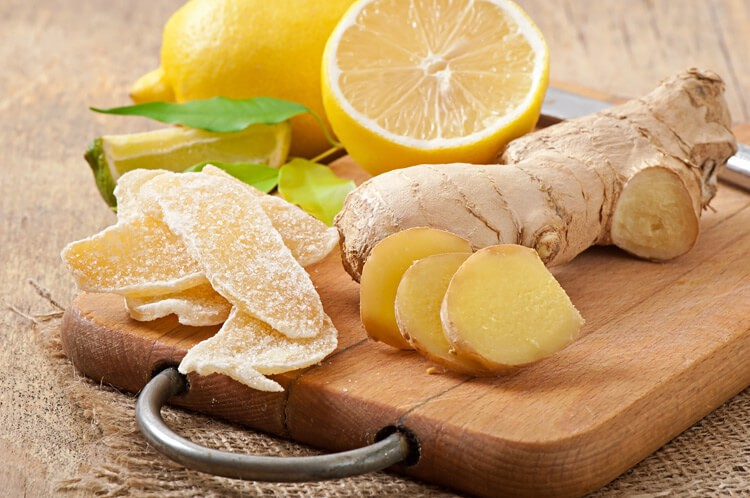 Цукаты из свежего корня имбиря с лимончиком